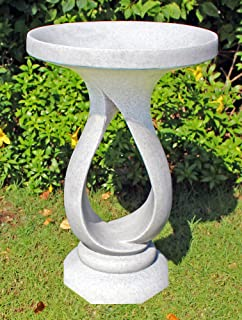 Garden Bird Bath Contemporary Granite Resin Birdbath Amazonco