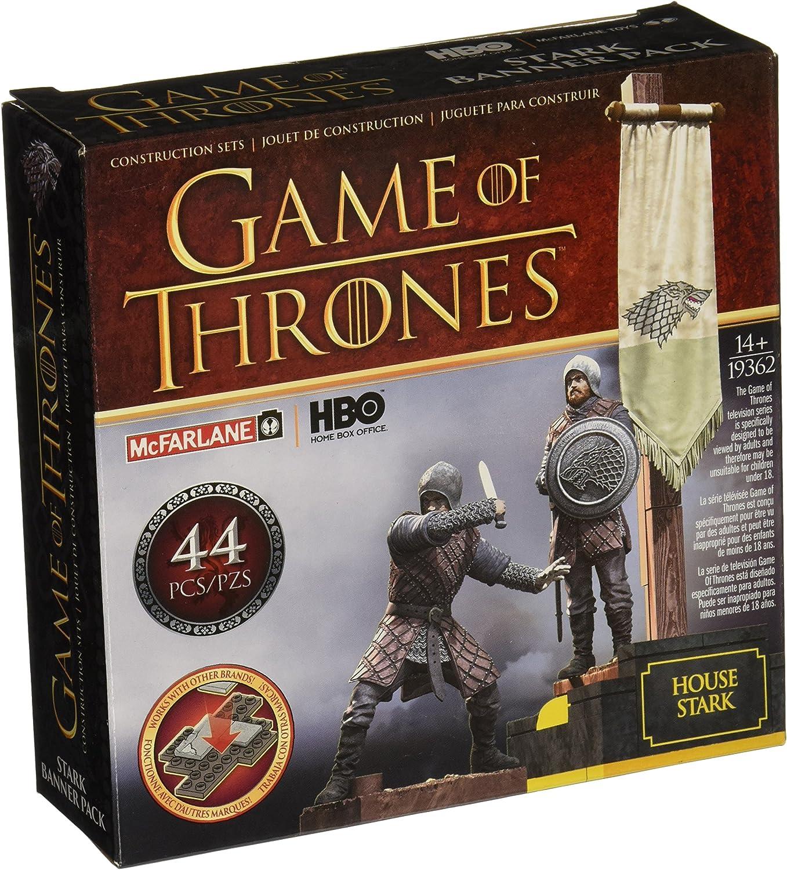 Game of Thrones- Puzles Juego de Tronos Set de Construcci&ampoacuten Estandarte Casa Stark, Multicolor, Ninguna (MC Farlane MCFGT019362)