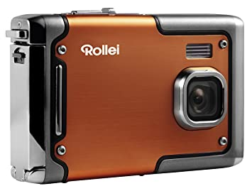 Rollei Sportsline 85 - Cámara Digital Compacta, Sensor CMOS de 8.0 MP, carcasa de aluminio, estanco al agua hasta 3 m, naranja
