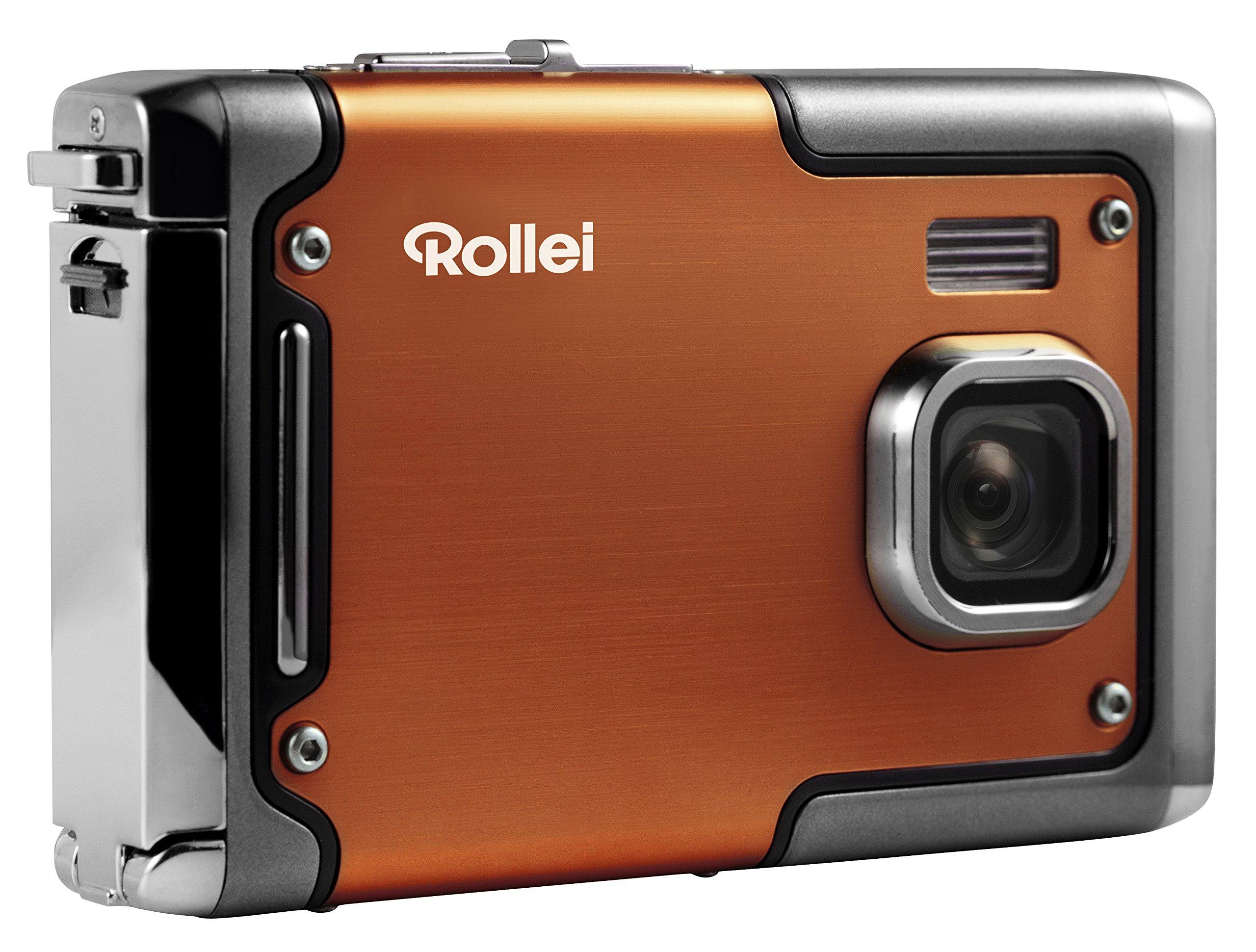 Rollei Sportsline 85 - Digital Camera - 8 Megapixels, 1080p Full HD Video Resolution, Waterproof up to 3 meters - Orange