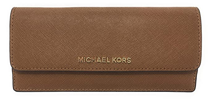 625e6246fa0446 Image Unavailable. Image not available for. Colour: Michael Kors Jet Set  Travel Saffiano Leather Slim Flat Wallet ...