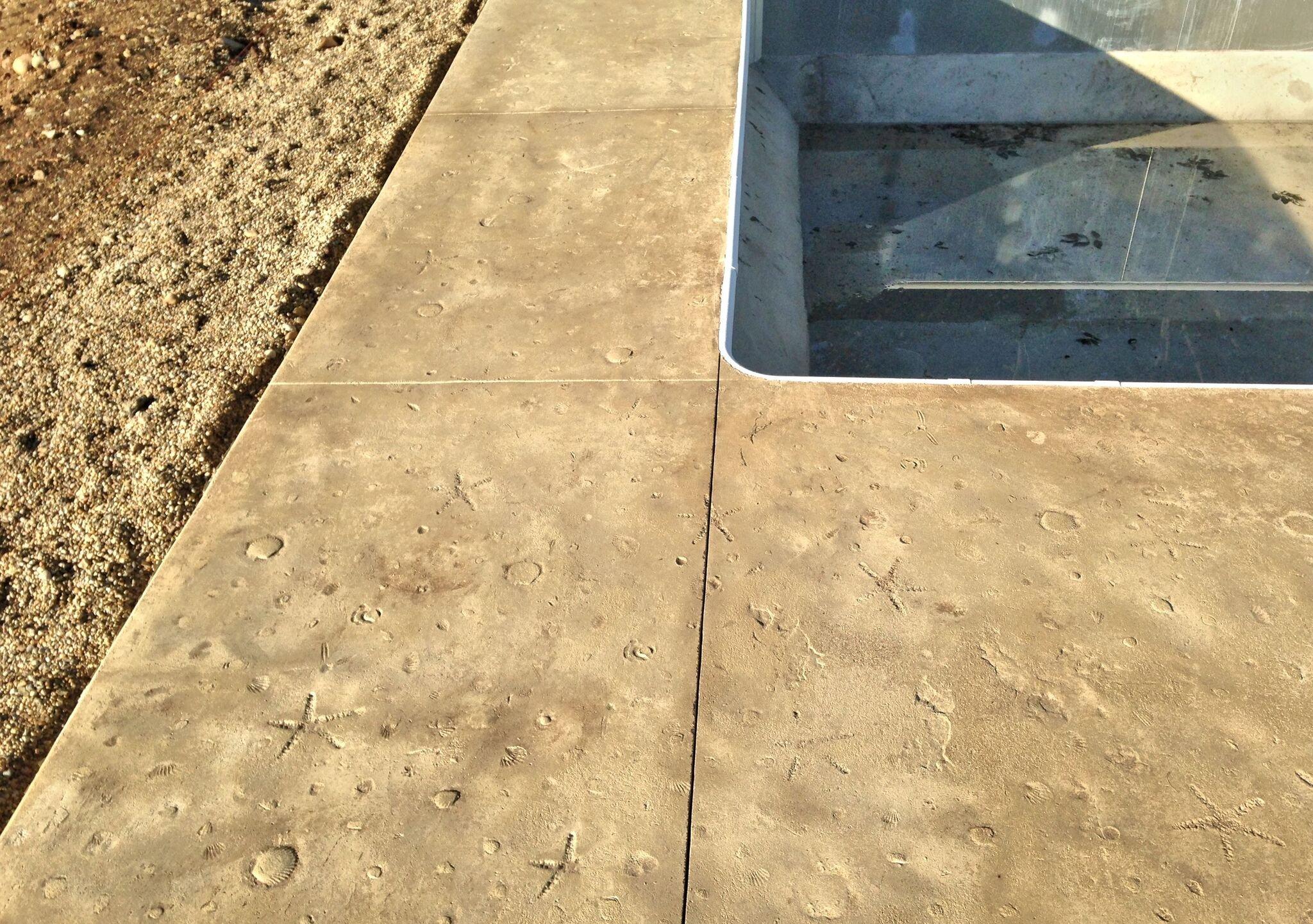 Seascape Ocean Floor Single (3 x 3 ft) Concrete Stamp Mat Seamless Skin