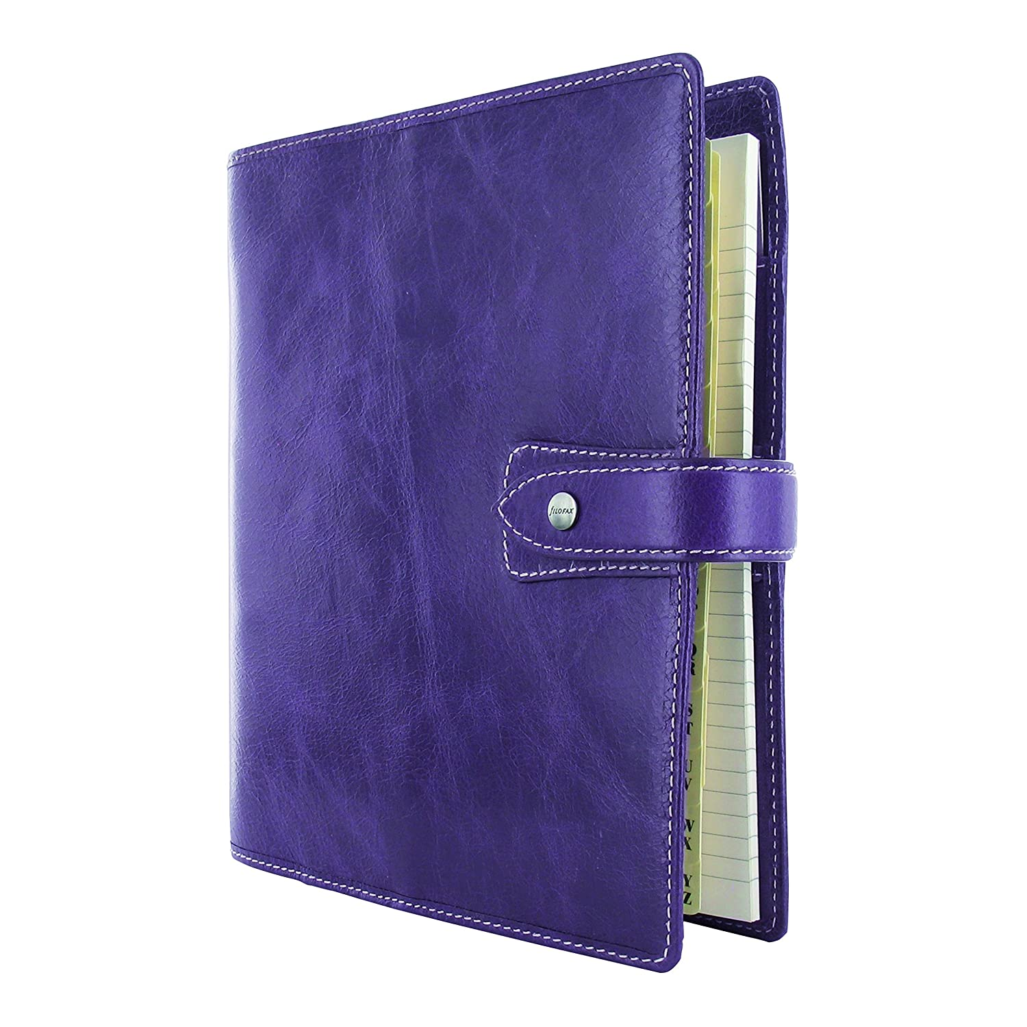 Filofax 2019 A5 Malden Organizer, Leather, Purple, Paper Size 8.25 x 5.75 inches (C025851-19)