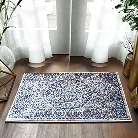 58ea5ee5403 Image Unavailable. Image not available for. Color  Super Area Rugs Accent  Rug Mat Small Throw 2x3 Rug Greek Medallion Distressed Vintage in