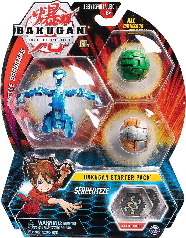 Spin Master Bakugan Starter 3 Pack - Mix 2 - Peonzas (Batalla de trompos, Multicolor, De plástico, 6 año(s), Niño/niña, China)