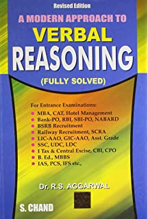 A Modern Approach to Verbal Reasoning 2nd Edition price comparison at Flipkart, Amazon, Crossword, Uread, Bookadda, Landmark, Homeshop18