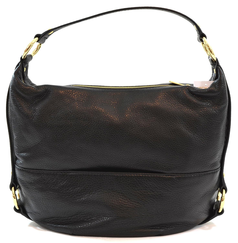 Amazon.com: MICHAEL Michael Kors Womens Fulton Leather Textured Shoulder  Handbag Black Large: Shoes