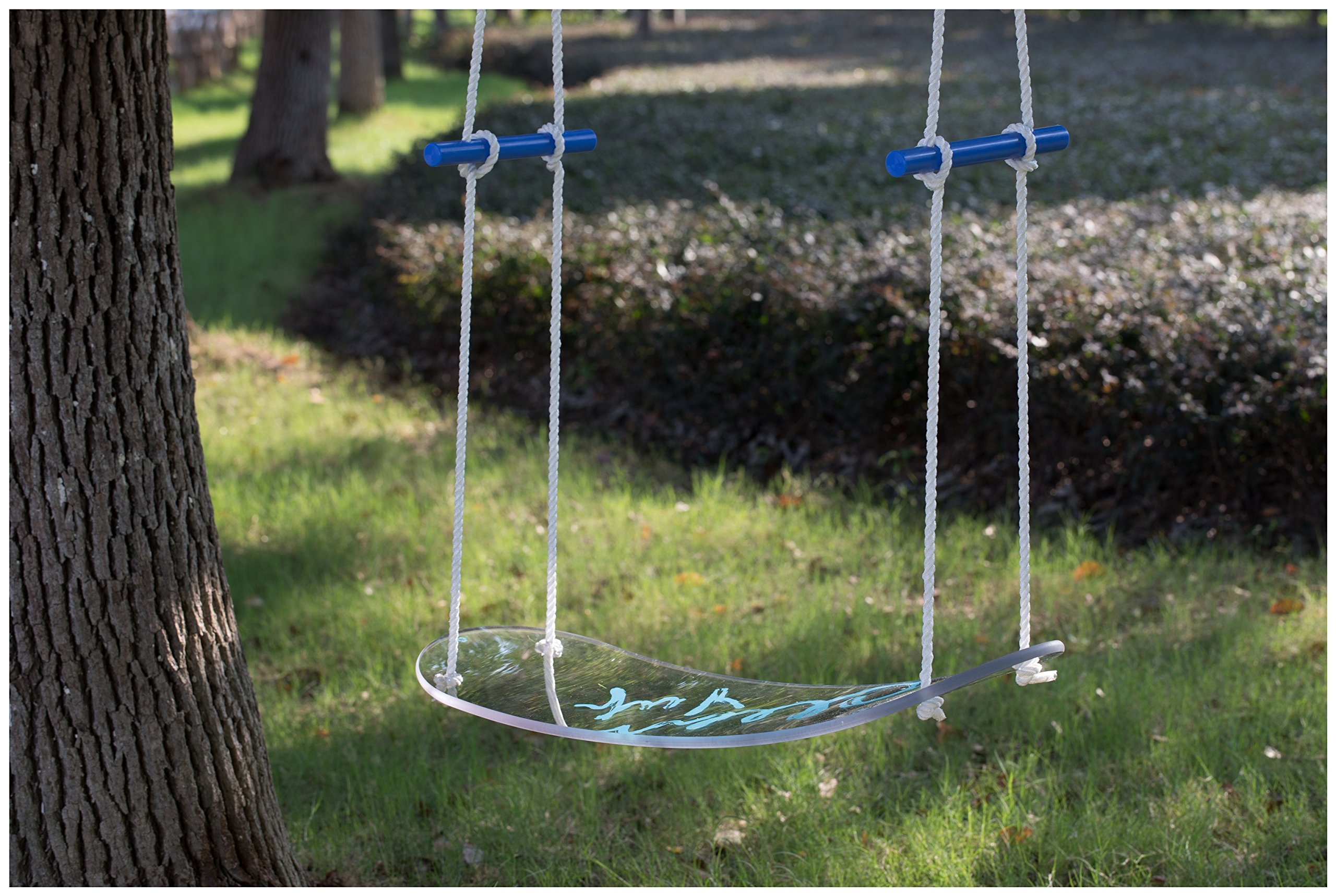 ClearYup Skateboard Swing Tree Swing Hanging Kit Stand Up Hanging Swing Polycarbonate Board Water Resistance Unbreakable Outdoor Toys For Hanging For Teens For Boys Outdoor Ride On Toys For Toddlers Y by ClearYup