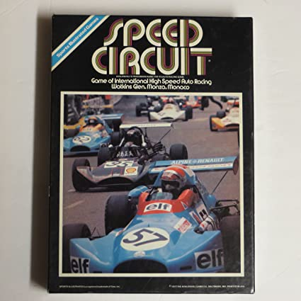 Avalon Hill Speed Circuit Bookshelf Game 1977
