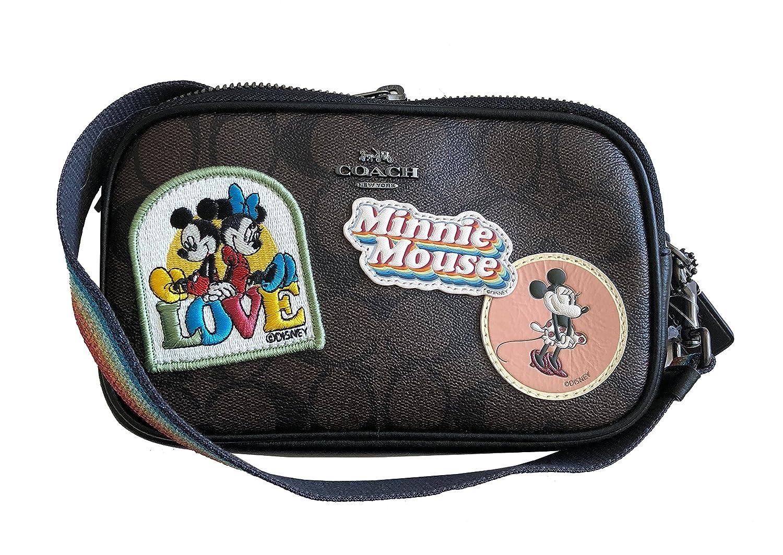 【コーチ】Coach X Disney Minnie Mouse Signature Crossbody Pouch Brown F28344/【ギフトレシート付き】コーチx ミニーマウス クロスボディーバッグ [並行輸入品] B07DT8M3WN