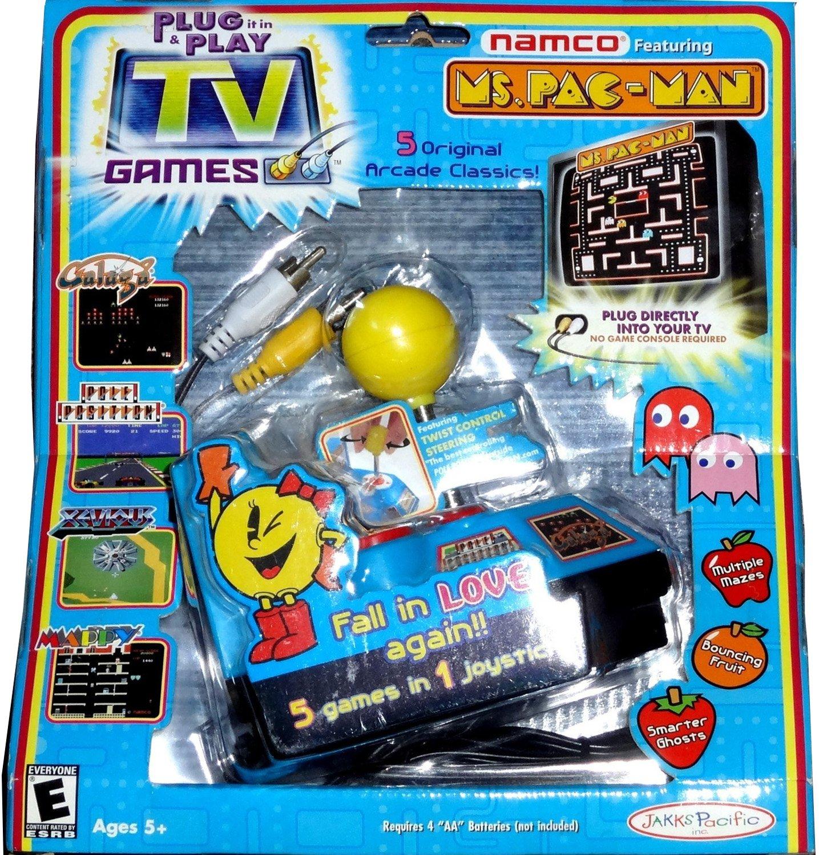 Jakks Ms. Pac-Man TV Game Children, Kids, Game B00G4BPBLC
