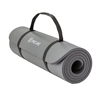 Incline Fit High Density Extra Thick & Long Comfort Foam Exercise Yoga Mat for Pilates