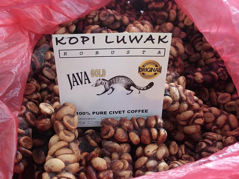 1 Pound Wild Luwak Coffee Java Gold Fresh Roasted Beans Green Bean Kopi Diet Robusta Grocery Gourmet Food