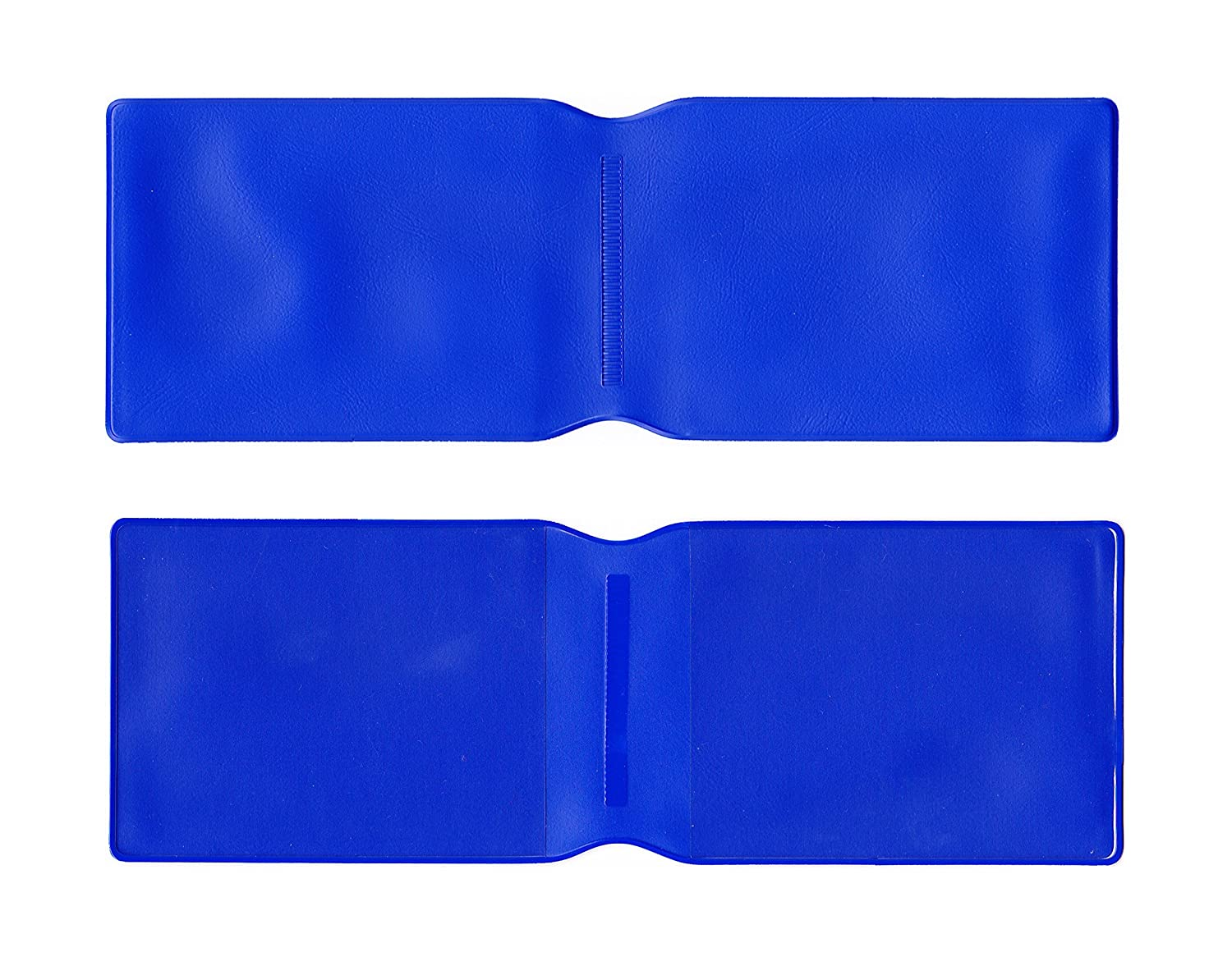 1 x Dark Blue Plastic Oyster Card Wallet/Credit Card Holder/ID Card Wallet/Business Card Holder/Travel Pass Cover - MADE IN THE UK