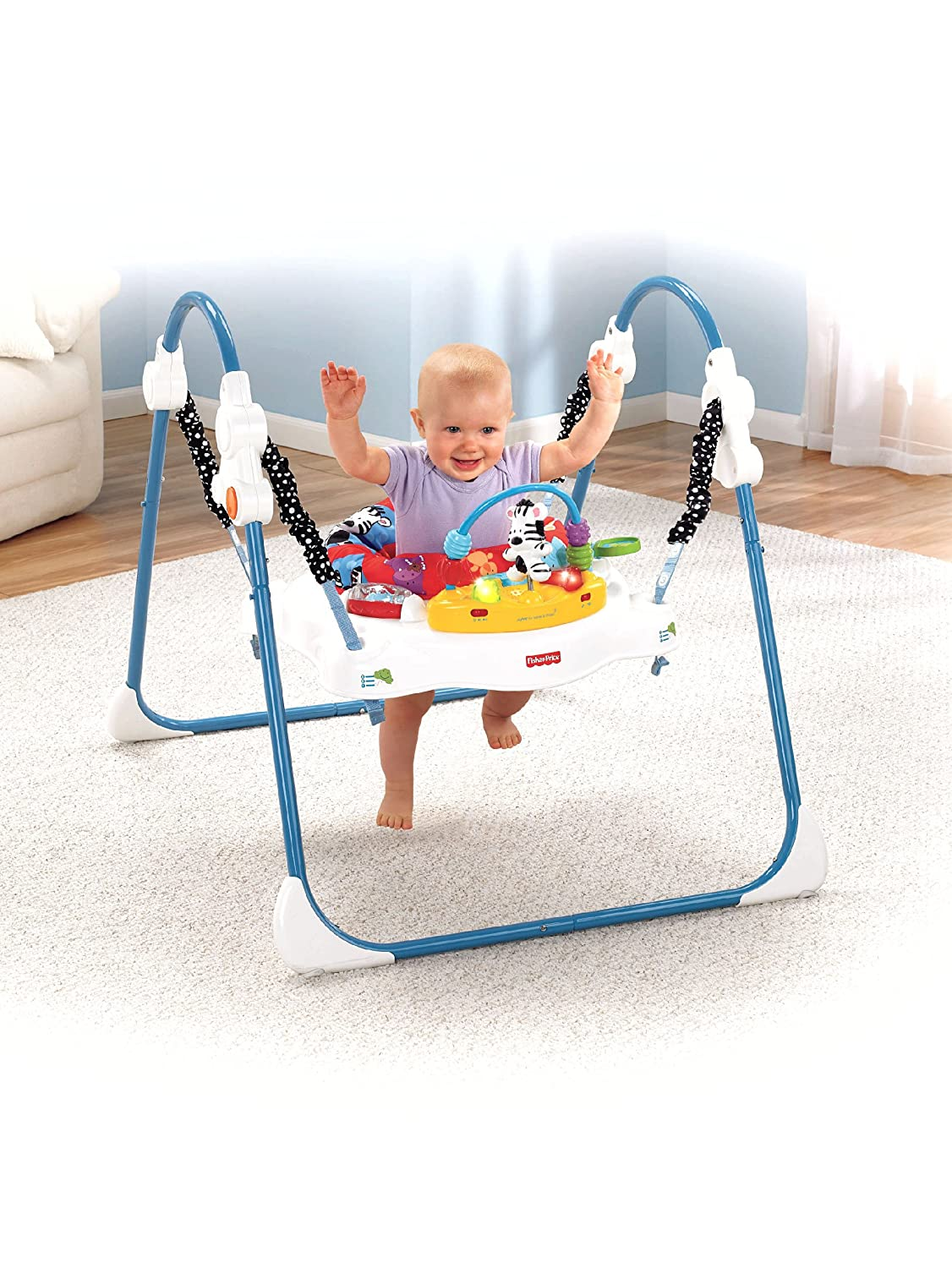 b0ebd6415 Amazon.com   Fisher-Price Adorable Animals Jumperoo (Discontinued by ...
