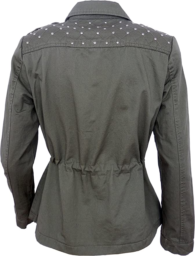 MENS BLACK MILITARY STYLE UTILITY COAT JACKET IDEAL CHRISTMAS PRESENT NOW £10