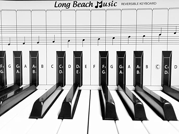 Amazon Practice Keyboard Note Chart For Behind The Piano Keys