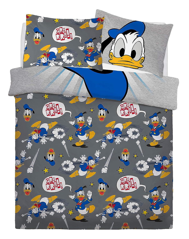 Colore: Blu Sleepdown Disney in Misto Cotone Set Biancheria da Letto Matrimoniale