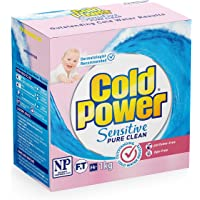 Cold Power Sensitive Pure Clean, Powder Laundry Detergent, 1kg, Suitable for Front and Top Loaders