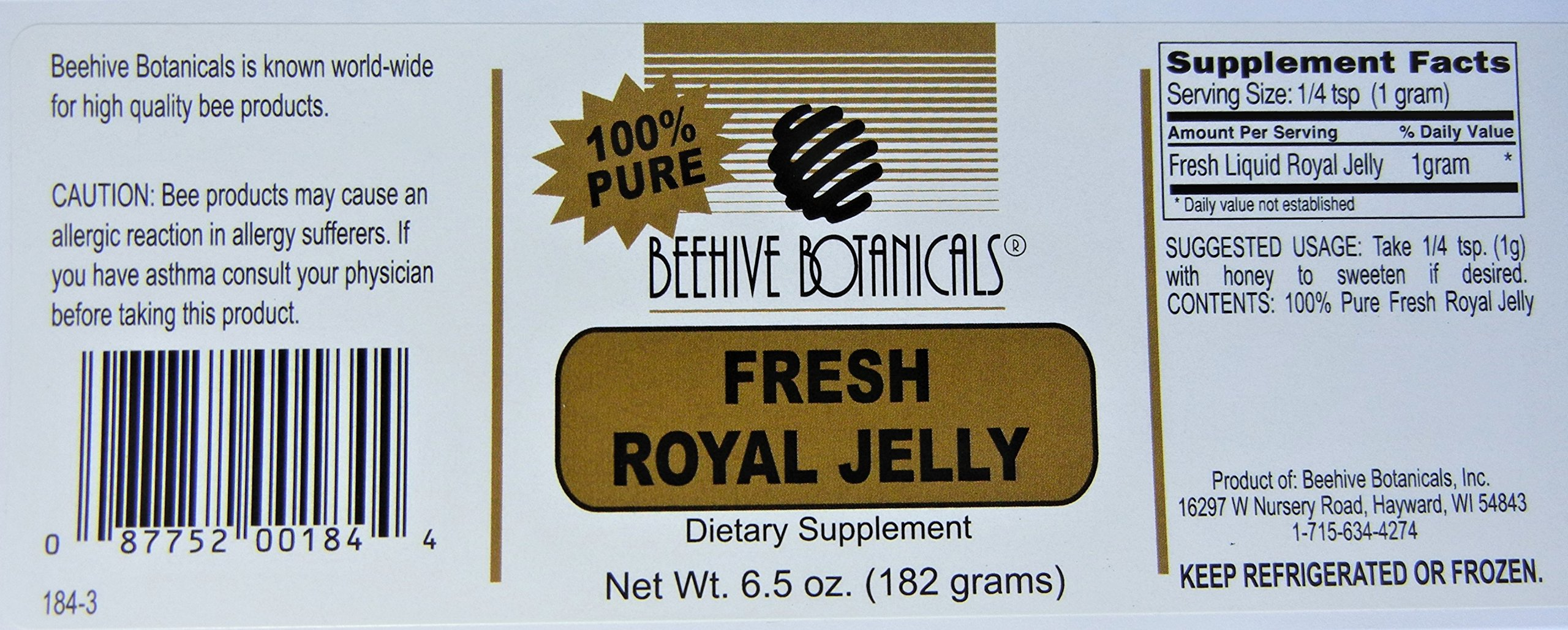 Beehive Botanicals Fresh Royal Jelly-6.5 Oz.
