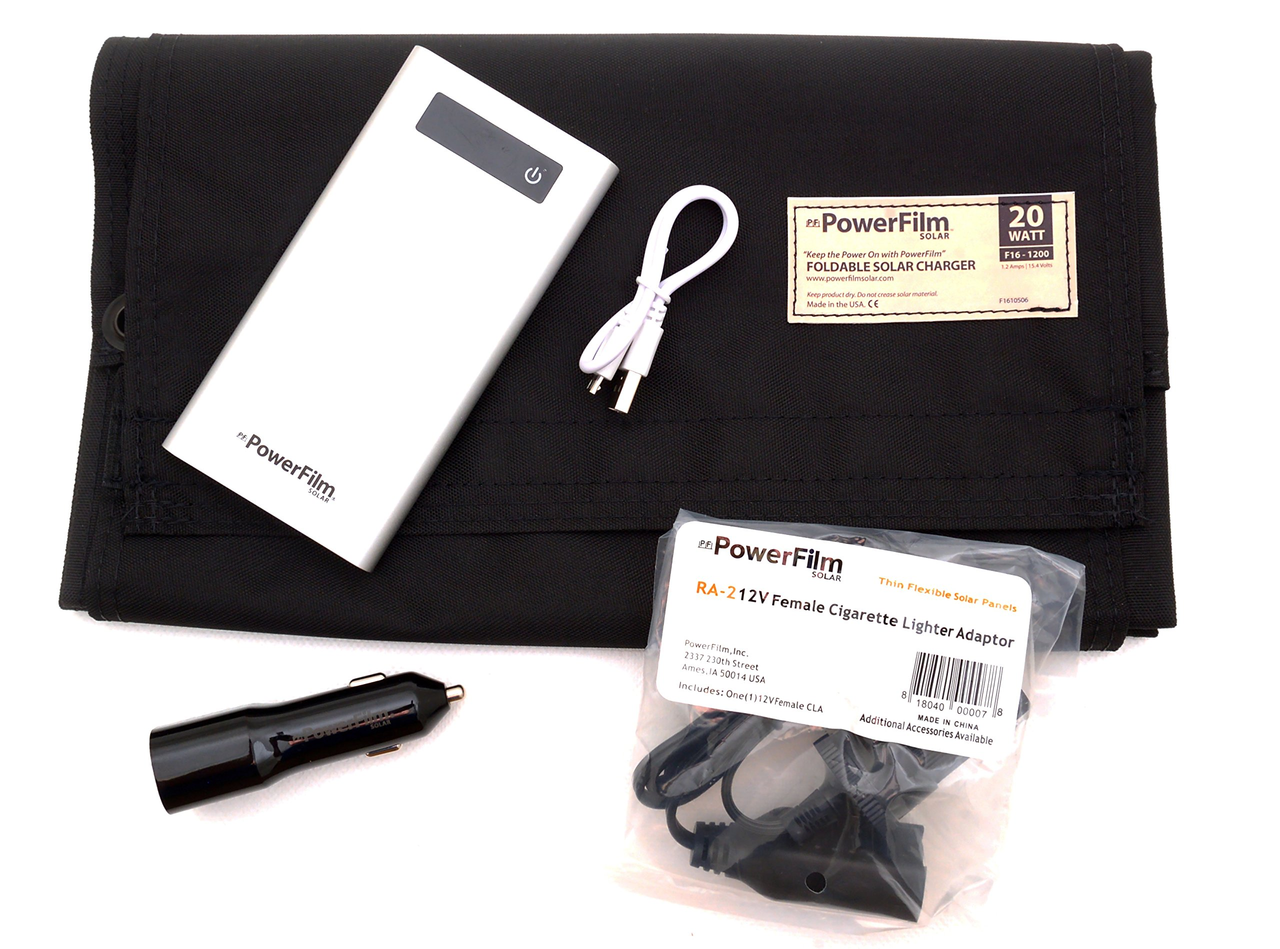 PowerFilm Solar 20 Watt Power Bank Kit