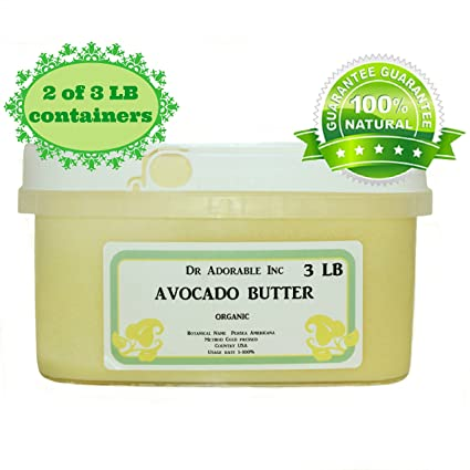 Manteca de aguacate pura orgánica refinada Raw by Dr.Adorable 6 lb
