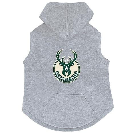 pretty nice 88972 81425 Amazon.com : NBA Milwaukee Bucks Pet Hooded Crewneck, XL ...
