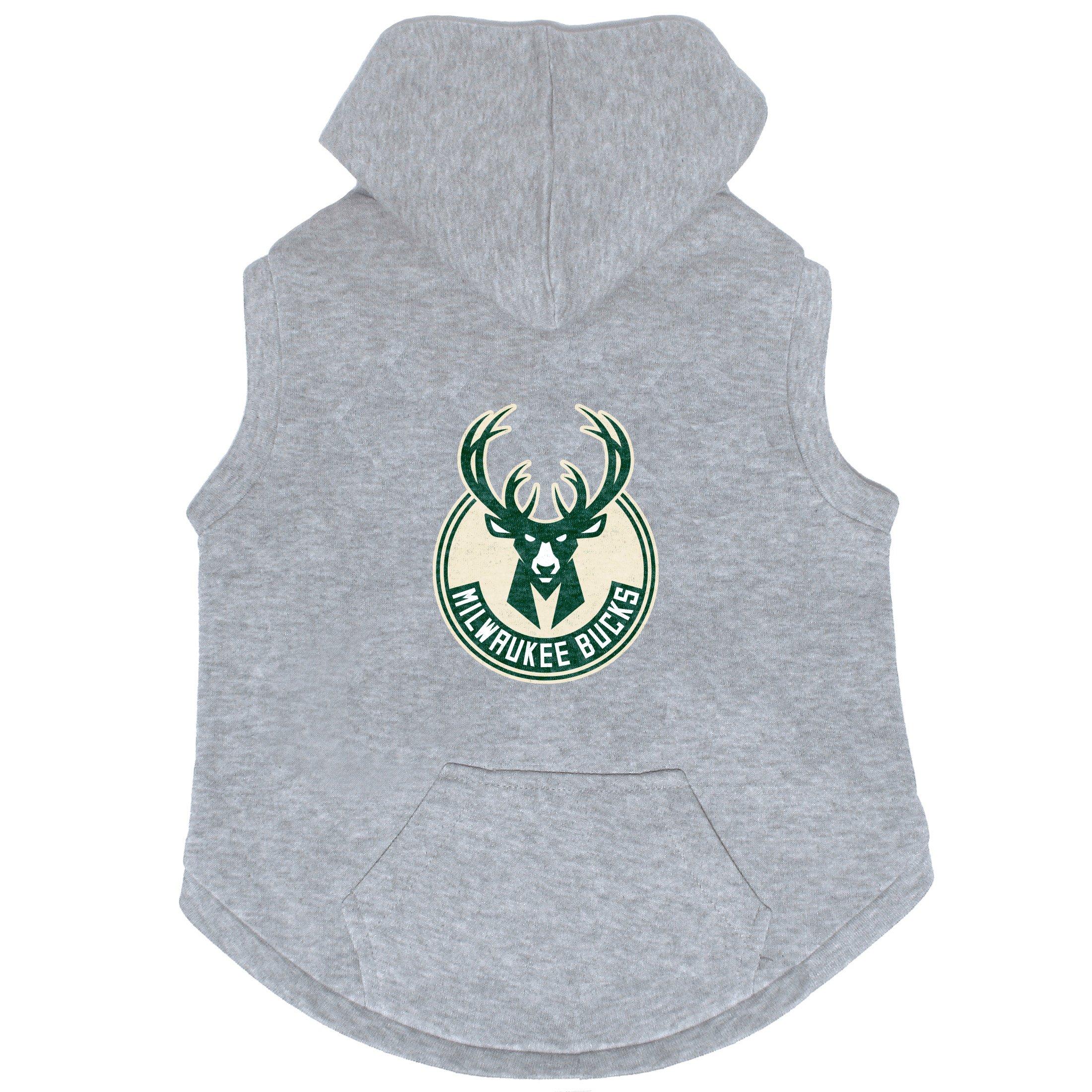 NBA Milwaukee Bucks Pet Hooded Crewneck, Medium