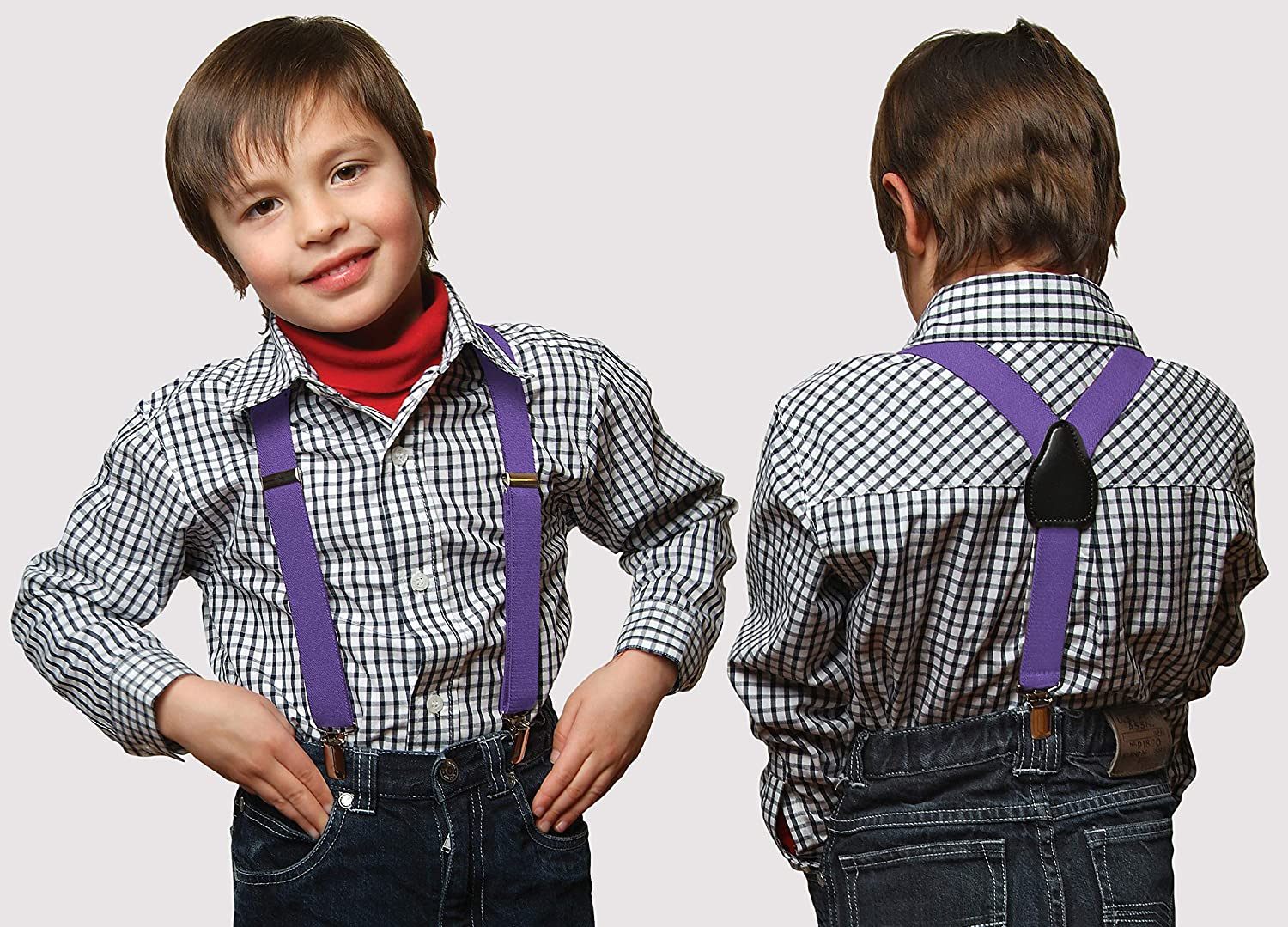 Suspenders for Kids 22 Brown 1 Inch Suspender Perfect for Tuxedo