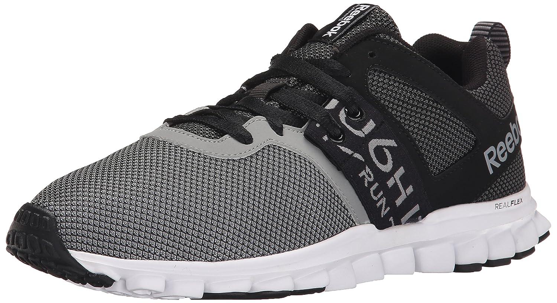 Reebok Men's Realflex Athletic Lite MT Running Shoe B00VT1NC2W 9 D(M) US|Black/Gravel/Flat Grey/White