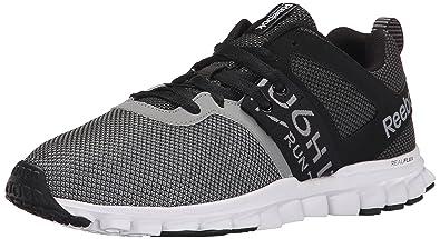 Reebok Men's Realflex Athletic Lite MT Running Shoe, Black/Gravel/Flat Grey/
