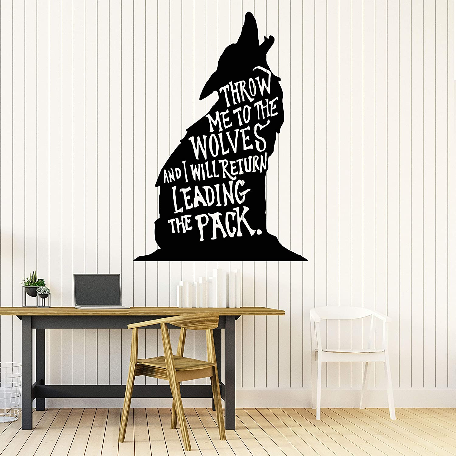 Amazon Com Wolf Wall Decals Room Decor Wolves Wall Art Vinyl Stickers Wolf Decorations Pictures For Home Bedroom Kids Nursery Room Animals Wildlife Forest Safari Jungle Savannah Wo015 Home Kitchen