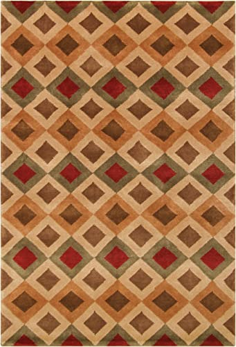 Noble House Noble Area Rug 10 x 14-Feet Multi Diamonds