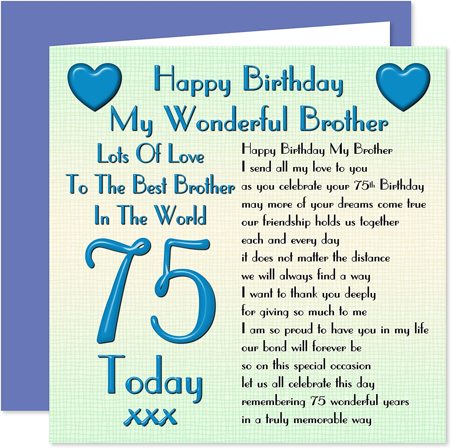 Brother 5th Happy Birthday Card - Lots of Love to The Best Brother in The  World - 5 Today