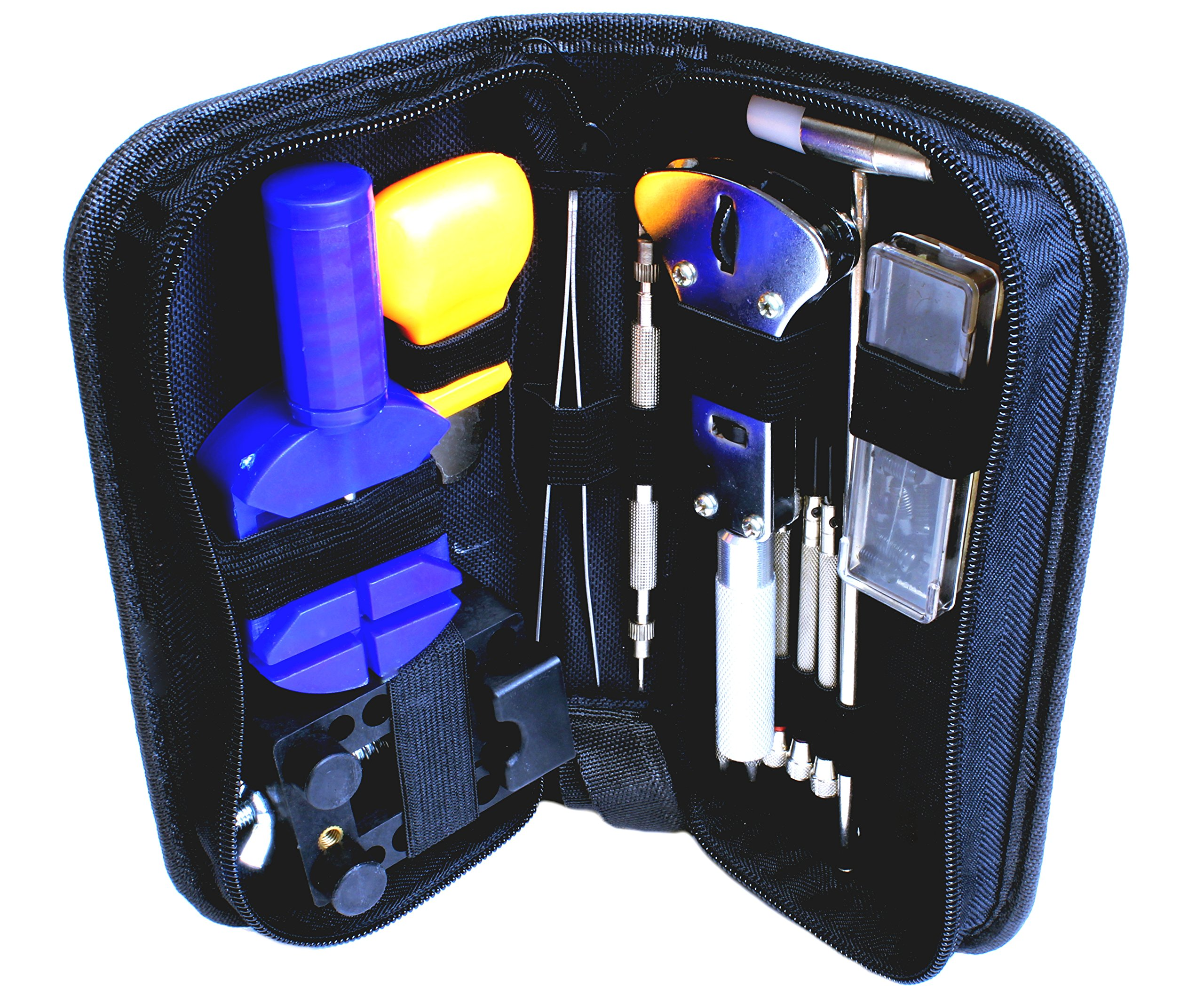 "High Precision Watch Repair Tool Kit - 13 Piece Watch Repair Kit - Watch Repair Set - Stainless Steel Watch Tool Set with Carrying Case - (8' x 4"" x 2"")"