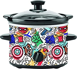 Uncanny Brands Marvel Eat The Universe 2qt Slow Cooker- Cook With Earth's Mightiest Heroes