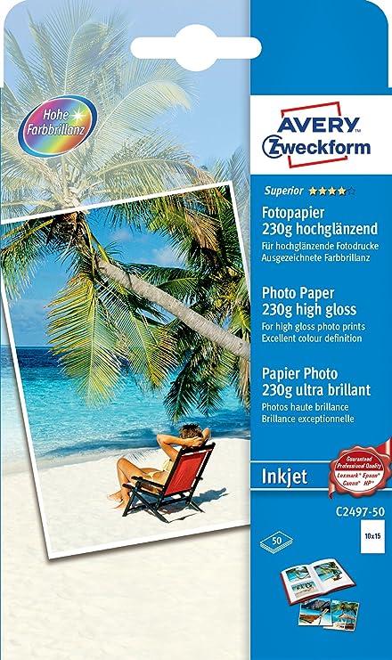 Avery Zweckform C2497-50 - Hoja de papel fotográfico para ...