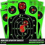 10, 25, and 50 Pack Splatter Targets   12 x 18 Inch Reactive Targets   Largest Splatter Effect Gun Target Shoot N C   Range Targets For Pistols Rifles Handguns and Shotguns
