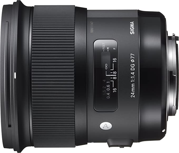 Sigma 24 mm/F 1.4 DG HSM Art - Objetivo para Canon, Color Negro ...