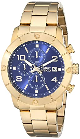 Invicta Men's 17765 Specialty Analog Display Japanese Quartz Gold Watch