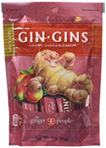 The Ginger People Ginger Chews, Spicy Apple, 3-Ounce Bag