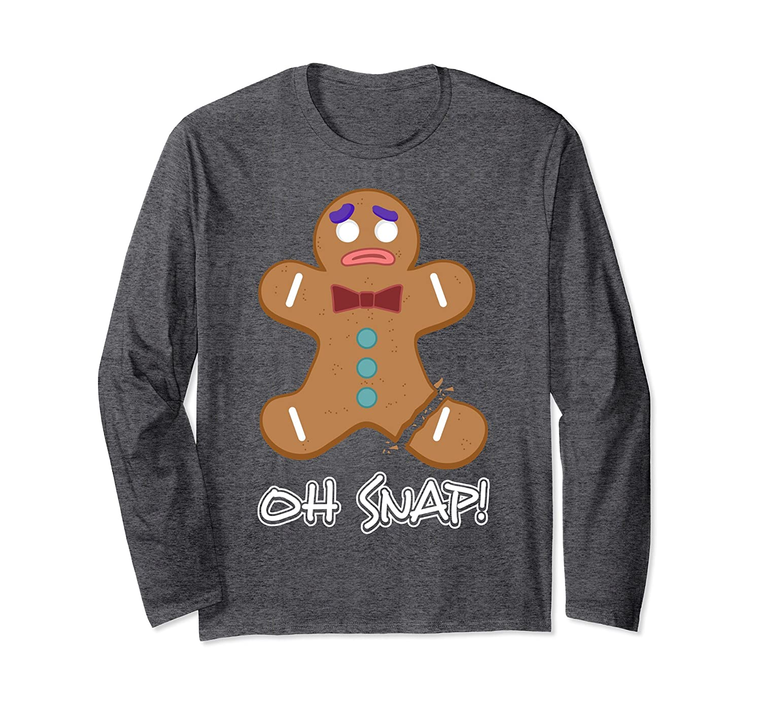 Oh Snap Long Sleeve Shirt Gingerbread Man Christmas T Shirt Alottee