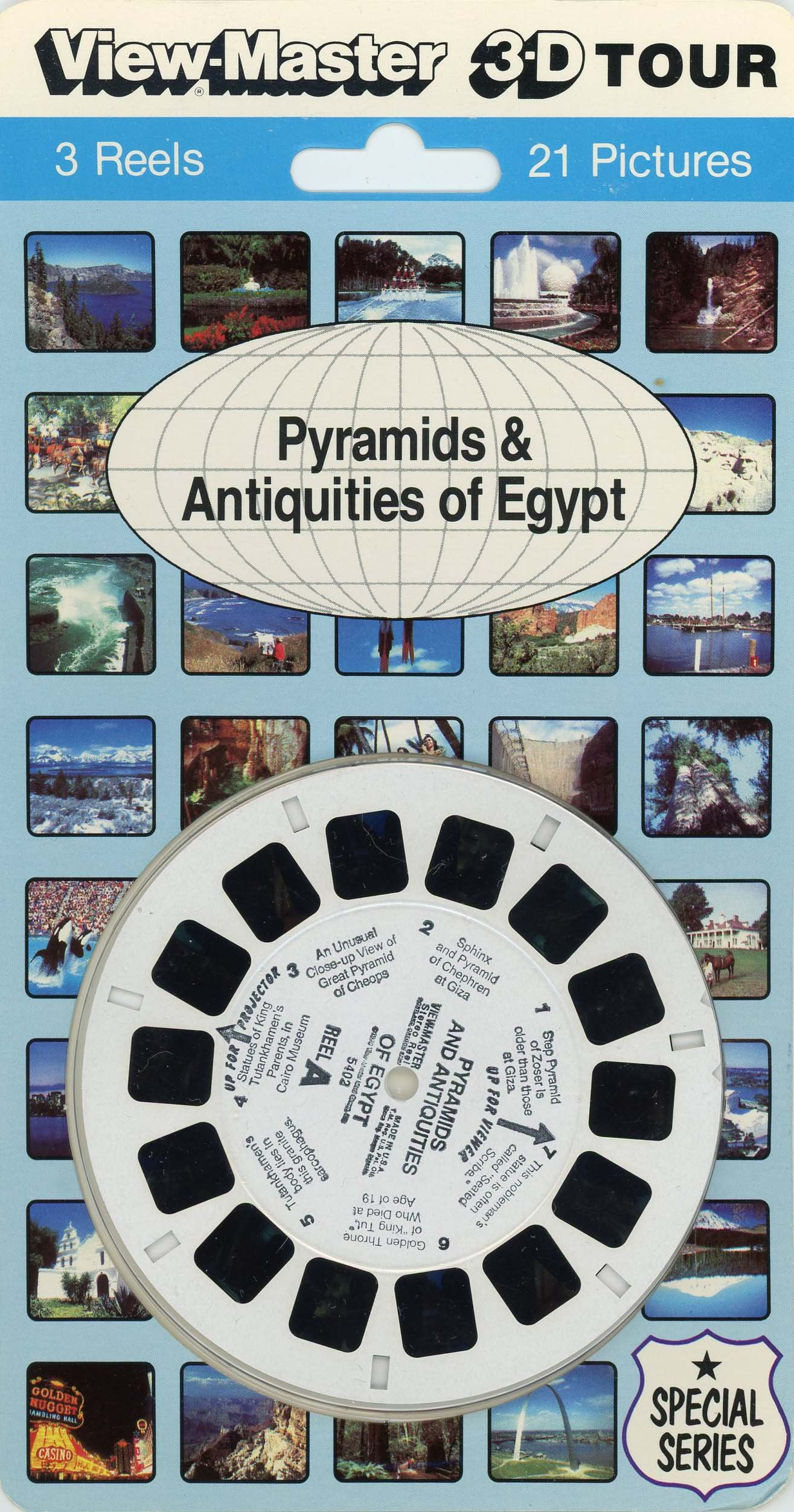 ViewMaster -Pyramids and Antiquities - ViewMaster Reels 3D - from the 1970s
