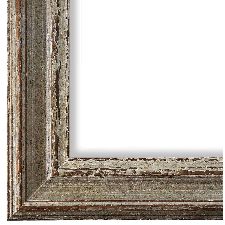 Online Galerie Bingold Bilderrahmen Beige Grau 30x30-30 x 30 cm - Antik, Barock, Vintage - Alle Größen - Handgefertigt in Deutschland - WRP - Forli 3,7