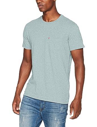 Levi's Herren T-Shirt SS Set-in Sunset Pocket, Blau (Cameo Blue