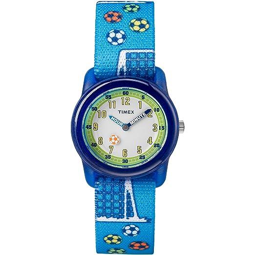 Timex Niñas Tiempo máquinas analógico Correa de Tela elástica Reloj: Amazon.es: Relojes