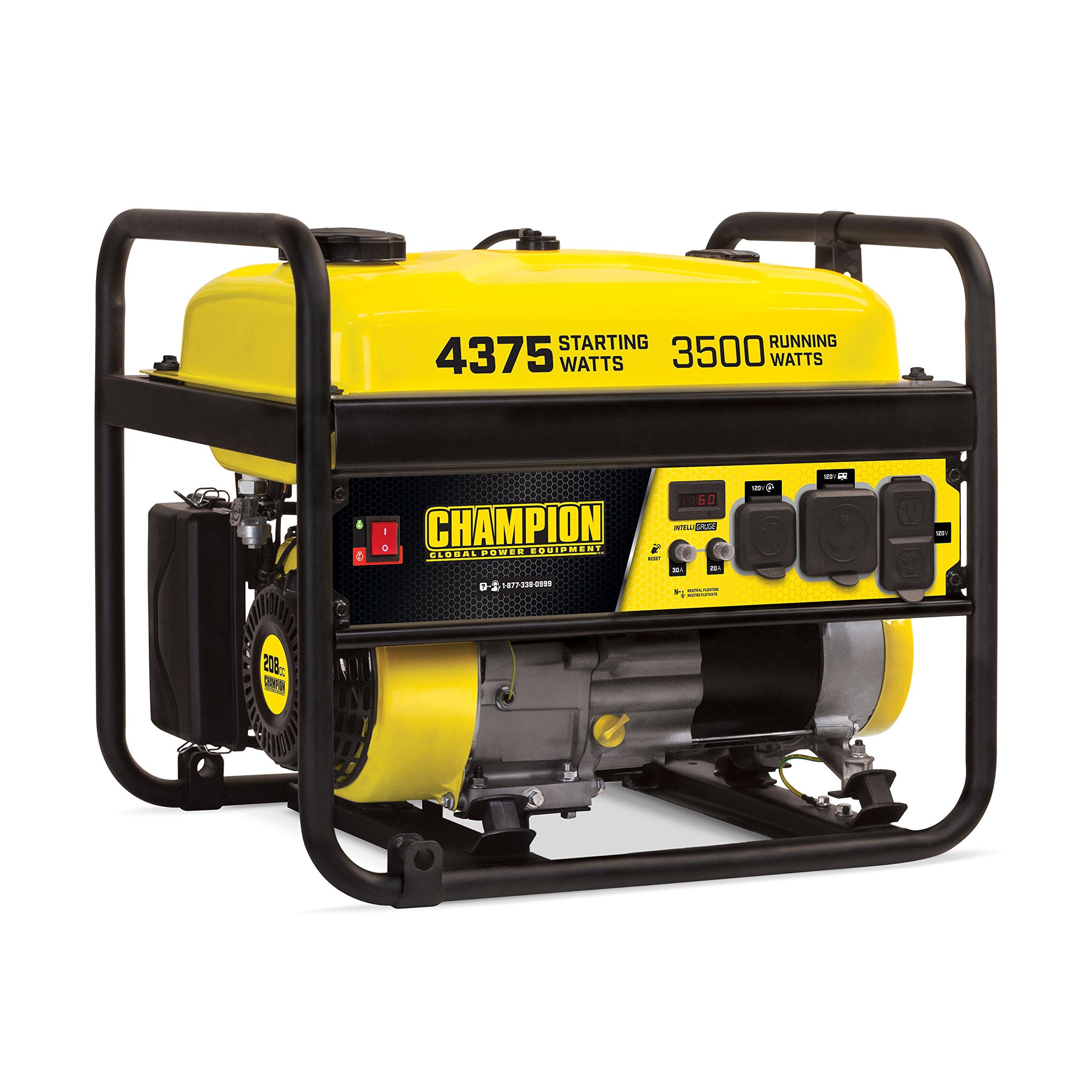 Champion Power Equipment 100555 RV Ready Portable Generator, Yellow and Black by Champion Power Equipment (Image #1)