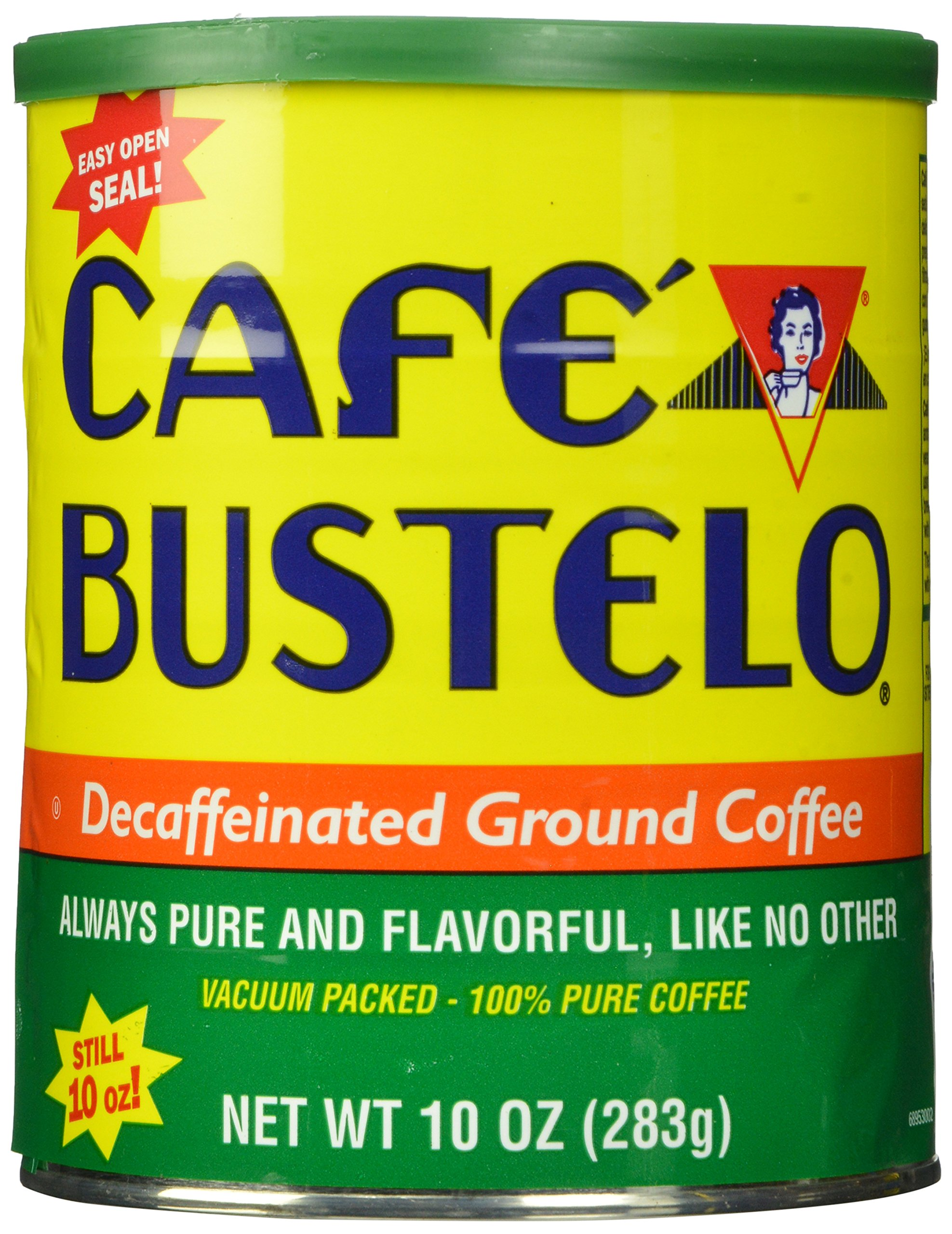 Cafe Bustelo Decaffeinated Coffee, 10 Ounce Cans (Pack of 12), Packaging May Vary