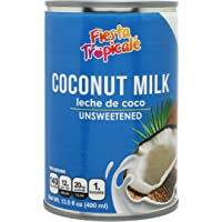 Coconut Milk Unsweetened Full-Fat BPA-Free Canned Dairy Free Without Preservatives, Great for Vegan Paleo or Keto Recipes Latte or for Yogurt - 13.5 oz. Cans (Count of 6) by Fiesta Tropicalé