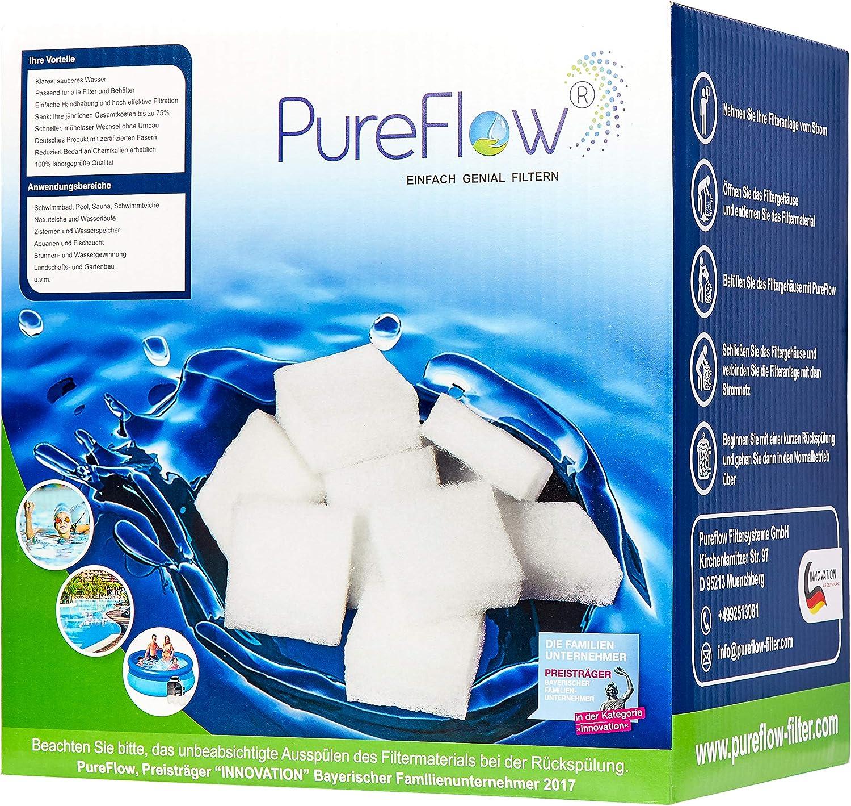 /pour piscines Jacuzzi Piscine Pureflow 3D Filtre Cubes/ /Filtre /à Eau 500/g/ /Remplacement pour 40/kg Filtre /à Sable/